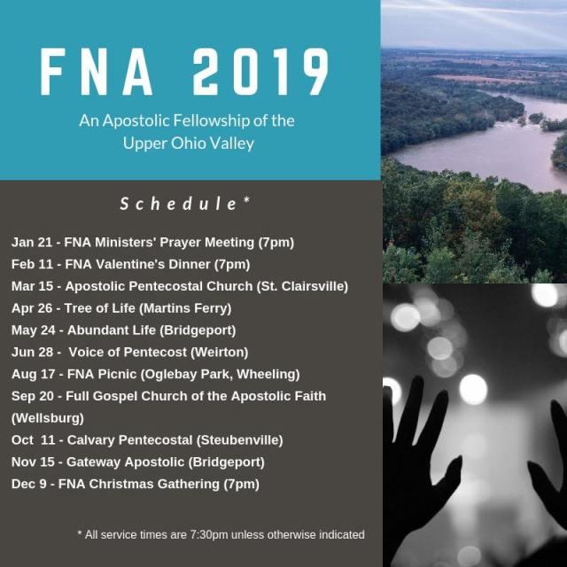 FNA 2019 Schedule